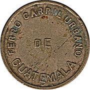 ½ Real - Ferro Carril Urbano de Guatemala – avers