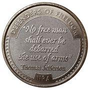 Token - NRA - Defenders of Freedom (Thomas Jefferson) – avers