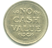 Token - No Cash Value (Rays or Lines; 22.8 mm) – avers