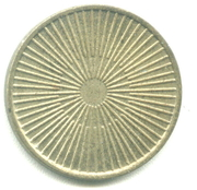 Token - No Cash Value (Rays or Lines; 22.8 mm) – revers