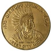 Token - Reed City Diamond Jubilee – avers