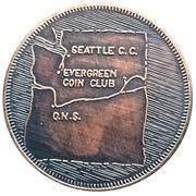 Token - Evergreen Coin Club (Centralia, Washington) – revers
