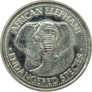 Jeton - World Endangered Species Coin Collection (African Elephant) – avers