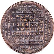 Jeton - Louis XVI - Almanach 1779 – revers