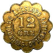 12 Öre - Stockholms Ångslups Aktiebolag2 – avers