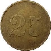 25 Pfennig (Wert-Marke) – avers