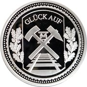 Token - Glück auf (Zeche Zollverein) – revers