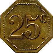 25 Centimes - Cafe du Midi (Bize 11) – revers