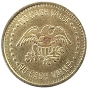 Token - No Cash Value (Clown and Eagle) – revers