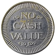 Token - No Cash Value (Clown; 22.9 mm) – revers