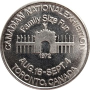 Token - Canadian National Exhibition 1972 (Toronto) – avers