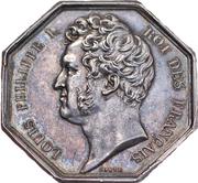 Louis-Philippe Ier Chambre de commerce de Bordeaux – avers