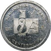 Token - Burlington Centennial 1973 (Ontario) – avers
