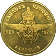 Token - 50th Anniverary of Canada's National Aeroclub – avers