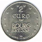 2 euro de Bourg-en-Bresse (01) – avers