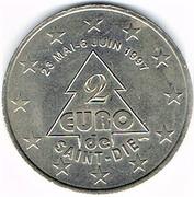 2 euro de Saint Dié (88) – avers