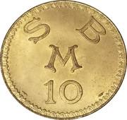 10 Francs - Cercle Des Etrangers – revers