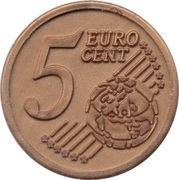 5 Euro Cent (Plastic Play Token) – revers