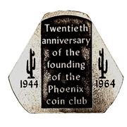 Token - Phoenix Coin Club 20th Anniversary (Phoenix, Arizona) – avers