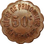 50 centimes - Dépôt de Prisonniers de Sédières - Clergoux [19] – avers