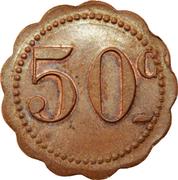 50 centimes - Dépôt de Prisonniers de Sédières - Clergoux [19] – revers