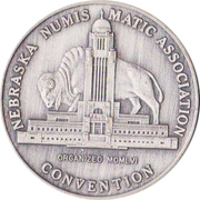 Token - Nebraska Numismatic Association (8th Convention) – avers