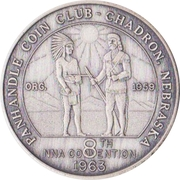 Token - Nebraska Numismatic Association (8th Convention) – revers