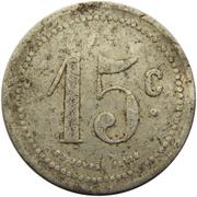 15 centimes - Société Coopérative d'Entre Deux Bois - Hautmont [59] – revers