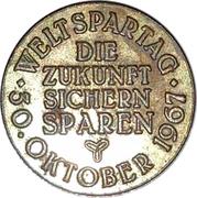 Token - Sparkasse Weltspartag 1967 (Hannover) – revers