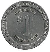 1 Dollar Gaming Token - Hyatt Regency Aruba – revers