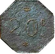 0,20 centimes -  Boulangerie Coopérative - Fougères (35) – revers