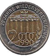 Token - 20 Jahre Wiedervereinigung – revers