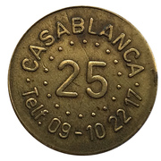 25 Spillemønt - Casablanca – revers