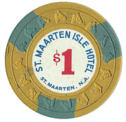 1 Dollar - St. Maarten Isle Hotel – avers