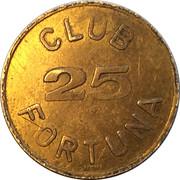 25 Spillemærke - Club Fortuna – avers