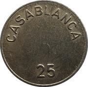 25 Spillemærke - Casablanca – avers