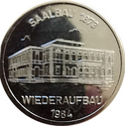 Jeton - Stadt Neustadt (Wiederaufbau Saalbau) – avers