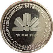 Jeton - Commerzbank Hauptversammlung 1990 – avers