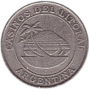 Jeton de casino - Casinos del Litoral (Corrientes) – avers