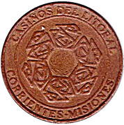 Jeton de casino - Casinos del Litoral (Corrientes-Misiones) – avers