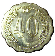 40 Centimes - Brasserie de l'Univers – revers