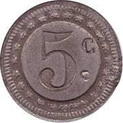 5 Centimes - I.S – revers