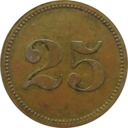 Wert-Marke 25 – revers