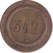 Token - 1 (numbered) – avers