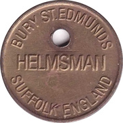 Locker Token - Helmsman (Holed and numbered) – avers