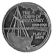 Token - U.S. Army Corps of Engineers (Lewis and Clark Bicentennial) -  revers