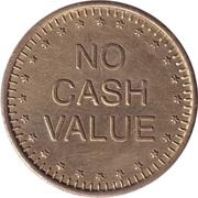 Token - No Cash Value (Eagle looking left; without text; Brass; 25 mm) – revers