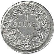 1 Gulden - Ludwig II (Bayerische Vereinsbank) – revers