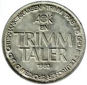 AOK Trimmtaler 1980 – revers