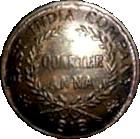 ¼ Anna - East India Company – avers